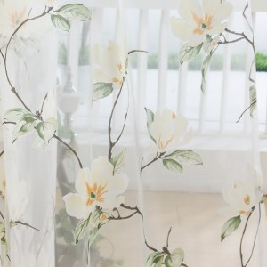 Morning Flower Boutique Cream Curtain 8