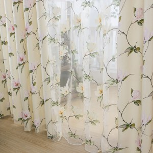 Morning Flower Boutique Cream Curtain 1