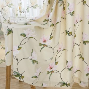 Morning Flower Boutique Cream Curtain 5