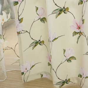 Morning Flower Boutique Cream Curtain 4