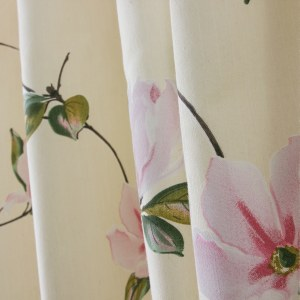 Morning Flower Boutique Cream Curtain 3