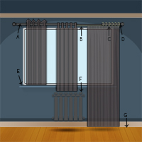 How to measure curtains