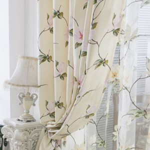 Morning Flower Boutique Cream Curtain 6