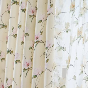 Morning Flower Boutique Cream Curtain 7