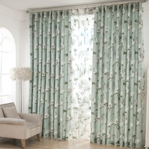 Morning Flower Mint Green Curtain 7
