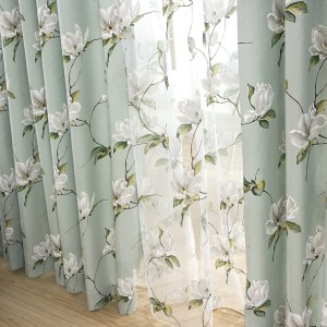 Morning Flower Mint Green Curtain 6
