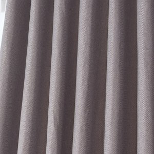 Royale Grey Linen Style Curtain 2