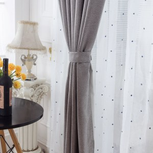 Royale Grey Linen Style Curtain 7