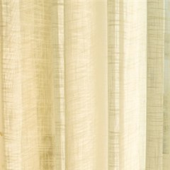 A Touch of Sunshine Yellow Peach Voile Curtain 1