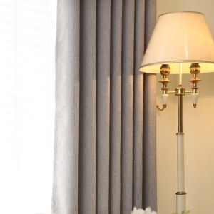 Gainsborough Light Grey Linen Style Curtain 5