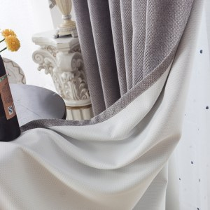 Royale Grey Linen Style Curtain 8
