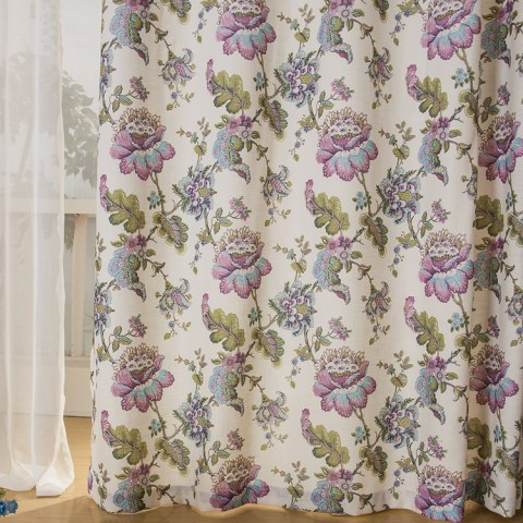 Afternoon Dream in Green and Purple Roman Blind 5