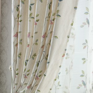 Misty Meadow Cream Curtain 2