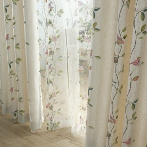 Misty Meadow Cream Curtain 6