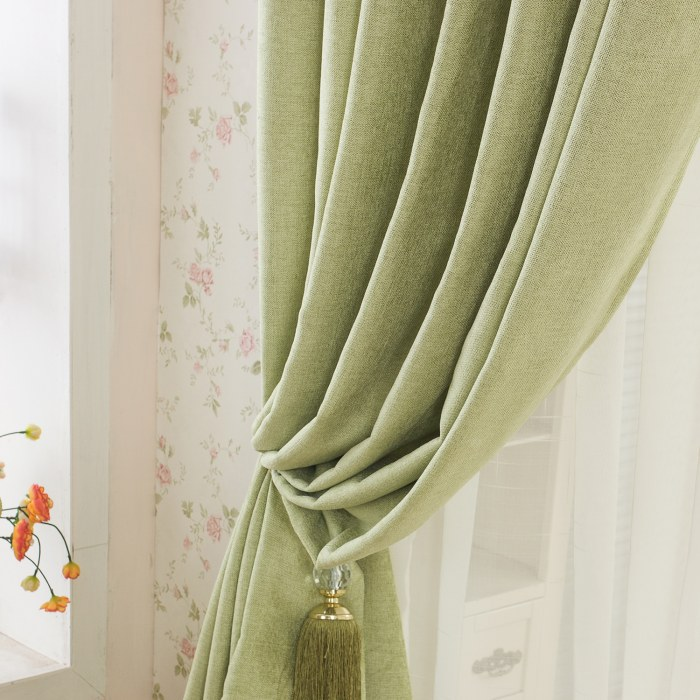 elegant plain chenille lime green curtain voila voile. Black Bedroom Furniture Sets. Home Design Ideas