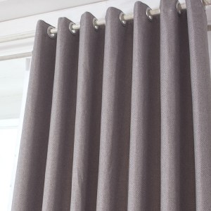 Royale Grey Linen Style Curtain 5