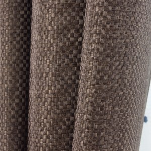 Royale Coffee Linen Style Curtain 2