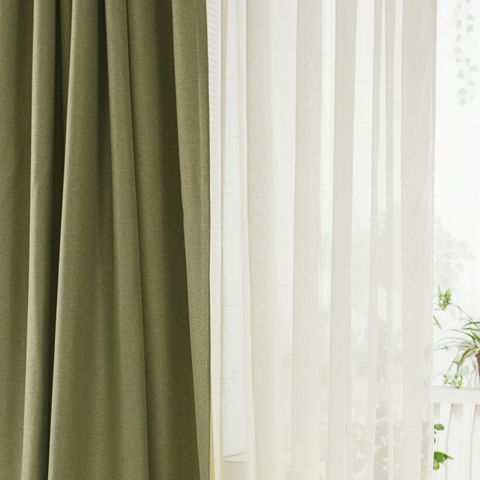 Regent Olive Green Curtain Voila Voile 174