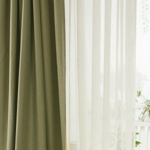 Regent Olive Green Curtain 1