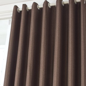 Royale Coffee Linen Style Curtain 4