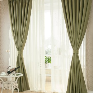 Regent Olive Green Curtain 7