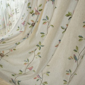 Misty Meadow Cream Curtain 4