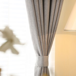 Gainsborough Light Grey Linen Style Curtain 4