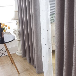 Royale Grey Linen Style Curtain 6