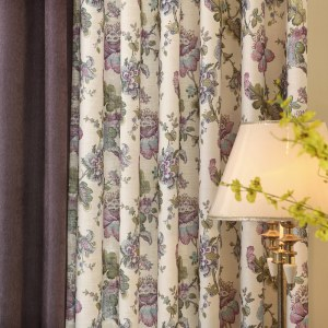 Afternoon Dream Curtain with Purple Edge Border 6