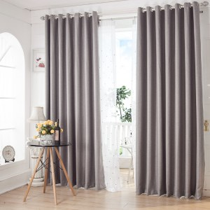 Royale Grey Linen Style Curtain 1