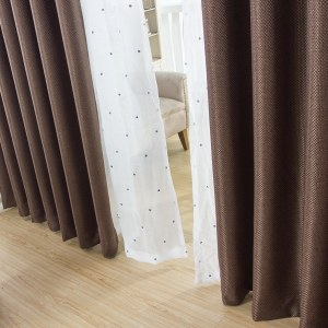 Royale Coffee Linen Style Curtain 5
