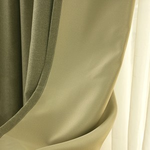Regent Olive Green Curtain 6