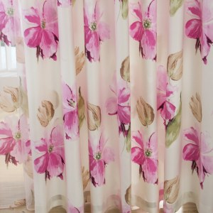 April Flower Pink Curtain 6