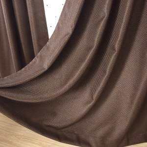 Royale Coffee Linen Style Curtain 1