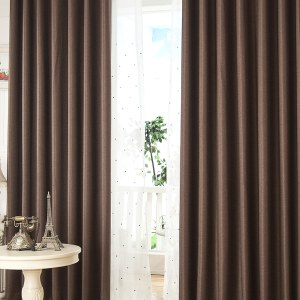 Royale Coffee Linen Style Curtain 8