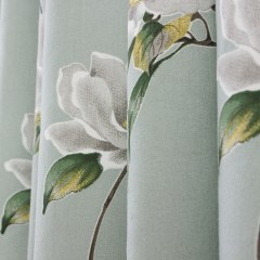Morning Flower Mint Green Roman Blind 4
