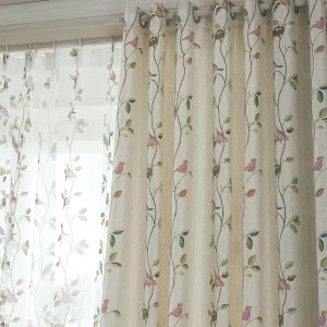 Misty Meadow Cream Curtain 5