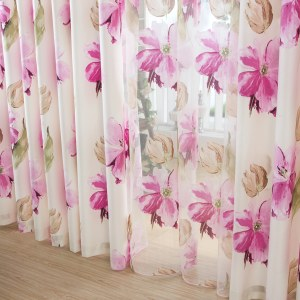 April Flower Pink Curtain 7