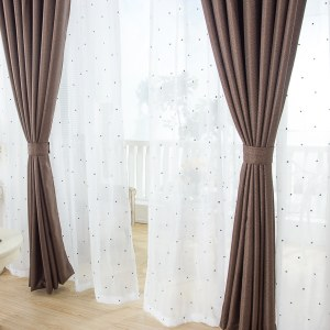 Royale Coffee Linen Style Curtain 3