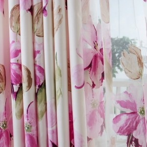 April Flower Pink Curtain 1