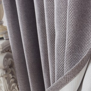 Royale Grey Linen Style Curtain 3