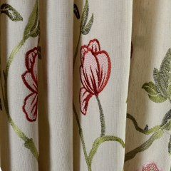 Fragrance Green Branch Embroidered Curtain 3
