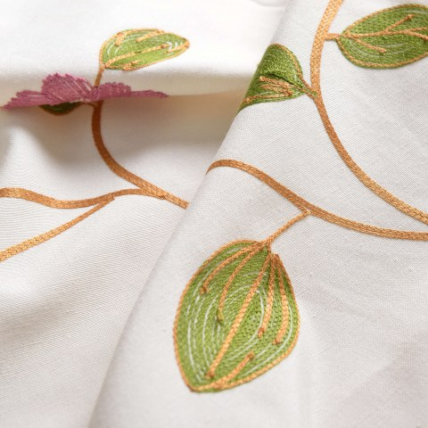 Floral Journey Pink Embroidered Roman Blind 3