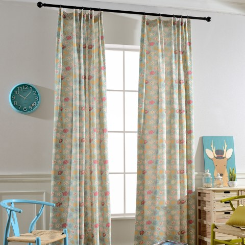 Baby Elephant Pink and Blue Curtain 6