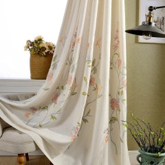 Fragrance Blue Branch Embroidered Curtain 2