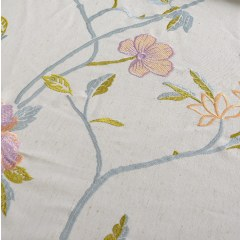 Fragrance Blue Branch Embroidered Curtain 7