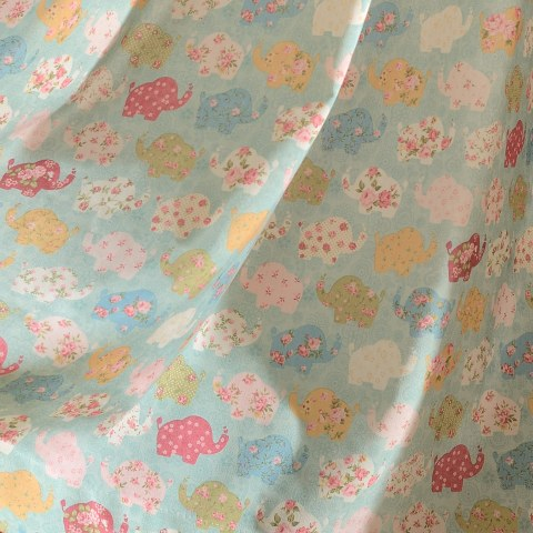 Baby Elephant Pink and Blue Roman Blind 5