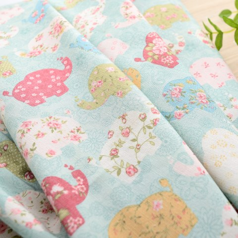 Baby Elephant Pink and Blue Curtain 7