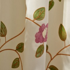Floral Journey Pink Embroidered Roman Blind 5