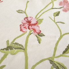 Fragrance Green Branch Embroidered Curtain 5